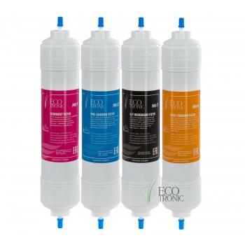 Комплект фильтров Ecotronic с UF мембраной (14 дюймов)  I-тип